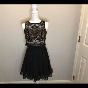 As U Wish Prom/Homecoming Black Formal 2 pc size 3